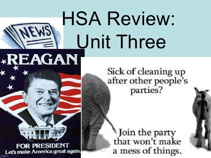 HSA Review:  Unit Three