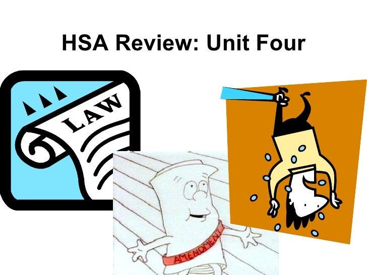 HSA Review: Unit Four