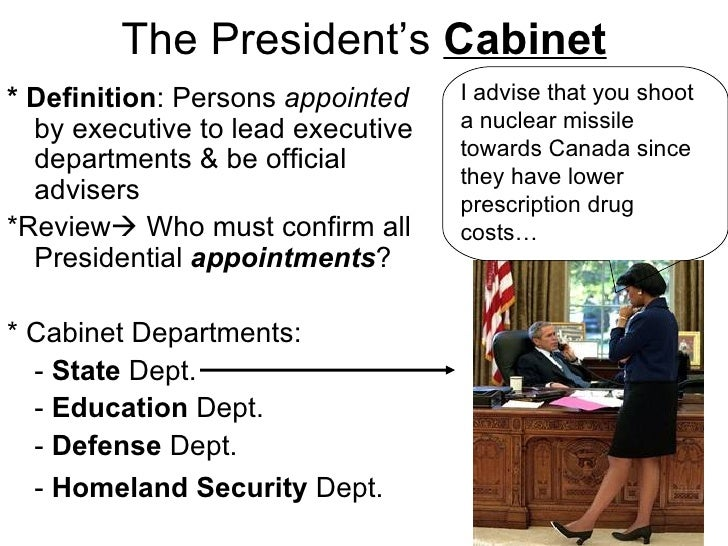 4 The President S Cabinet. Hsa Review Day 4 Unit Five