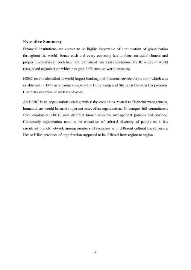 Case study hsbc pdf