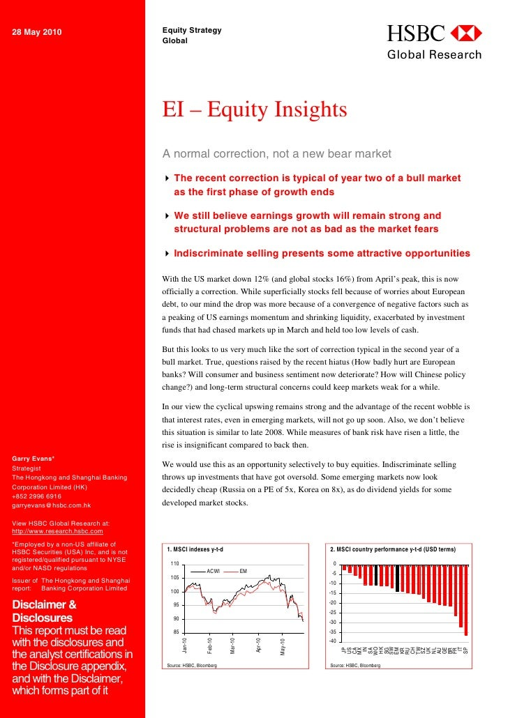28 May 2010                             Equity Strategy                                         Global                    ...