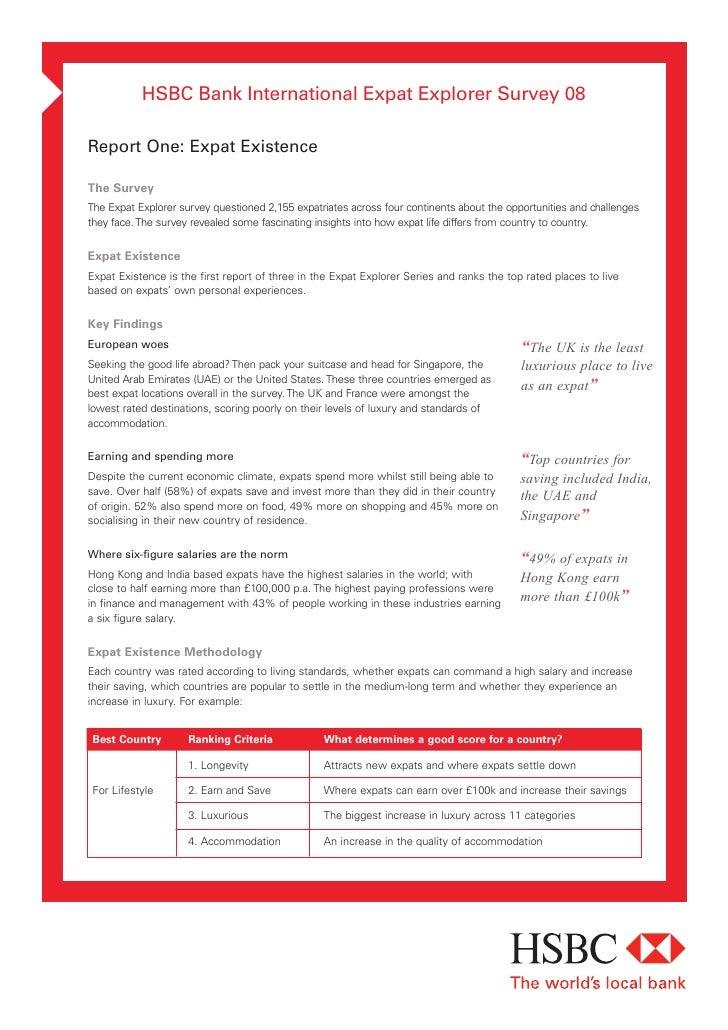 Hsbc Bank International Expat Survey 2008
