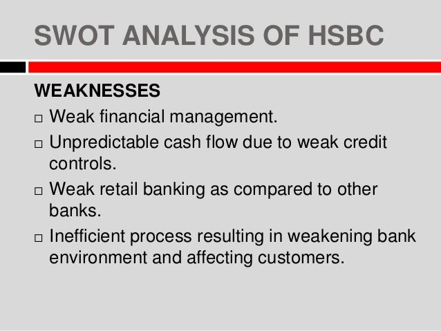 hsbc strategic analysis