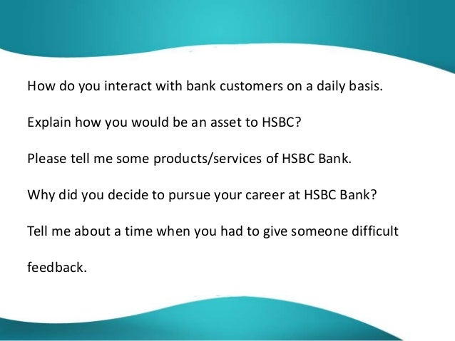Hsbc interview questions and answers