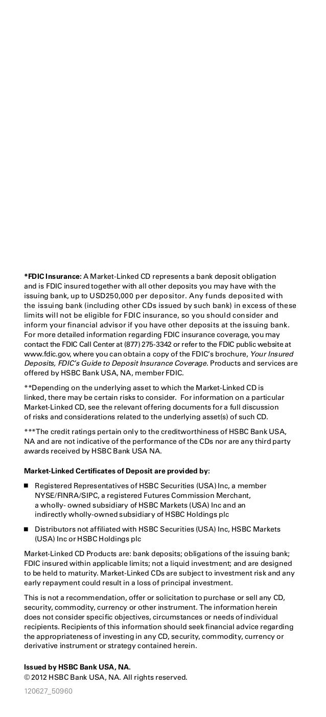 Tired Of Low Fixed Rates On Your Investment Choices Hsbc Offers Fdic