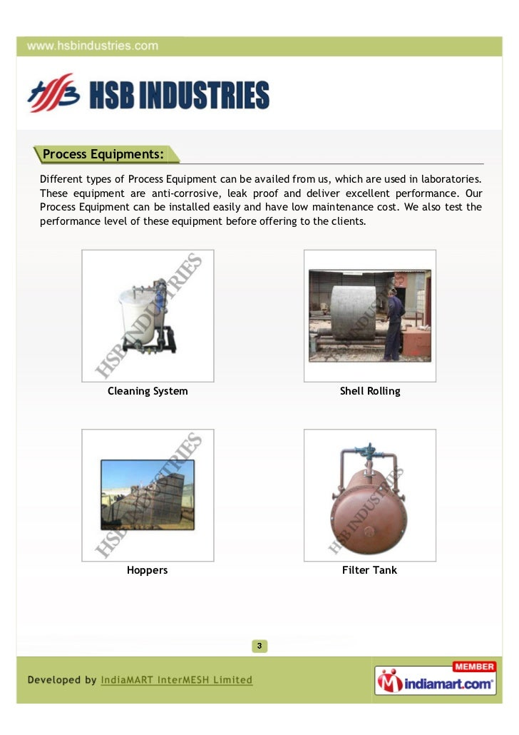 Process Equipments:Different types of Process Equipment can be availed from us, which are used in laboratories.These equip...