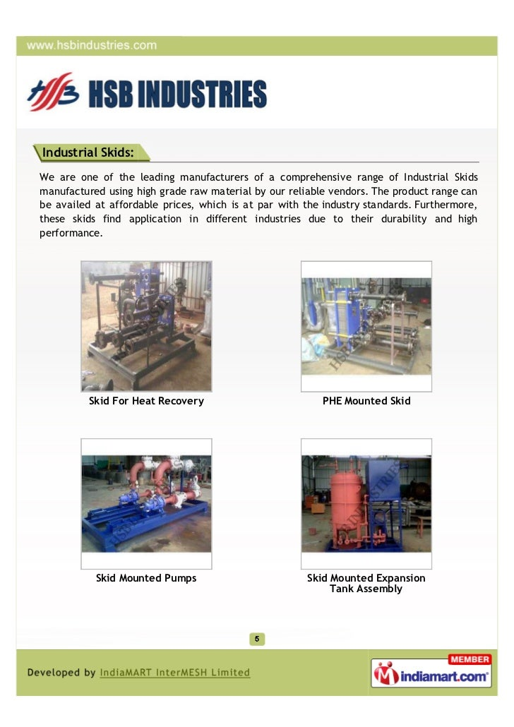 Industrial Skids:We are one of the leading manufacturers of a comprehensive range of Industrial Skidsmanufactured using hi...