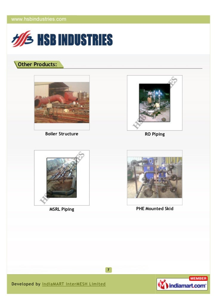 Other Products:          Boiler Structure      RO Piping            MSRL Piping      PHE Mounted Skid