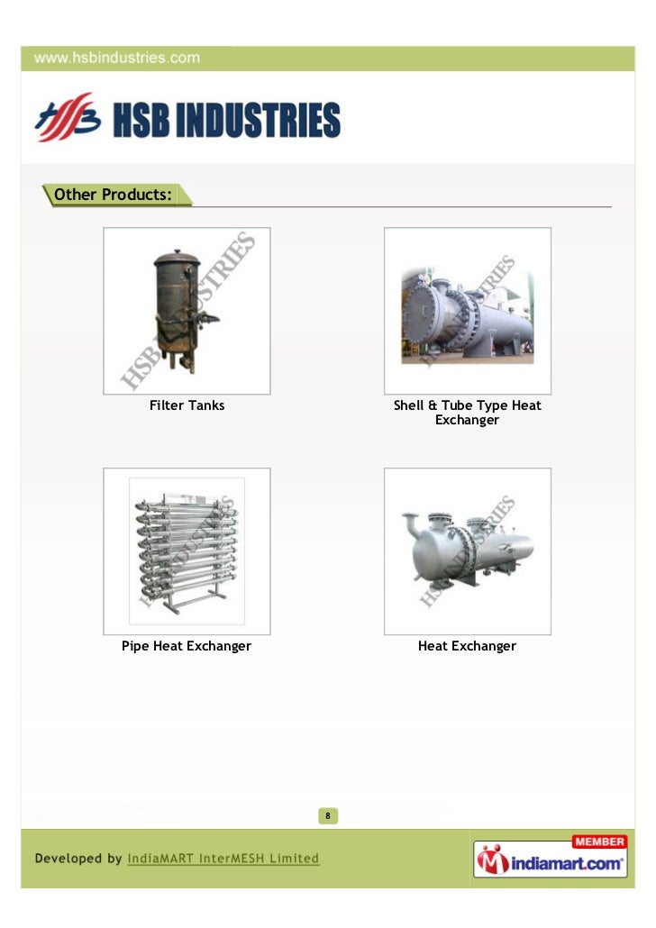Other Products:            Filter Tanks          Shell & Tube Type Heat                                         Exchanger ...