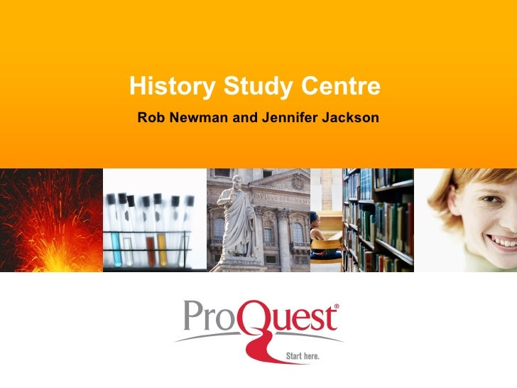 History Study Centre  Rob Newman and Jennifer Jackson