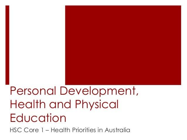 Hsc health priorities in australia