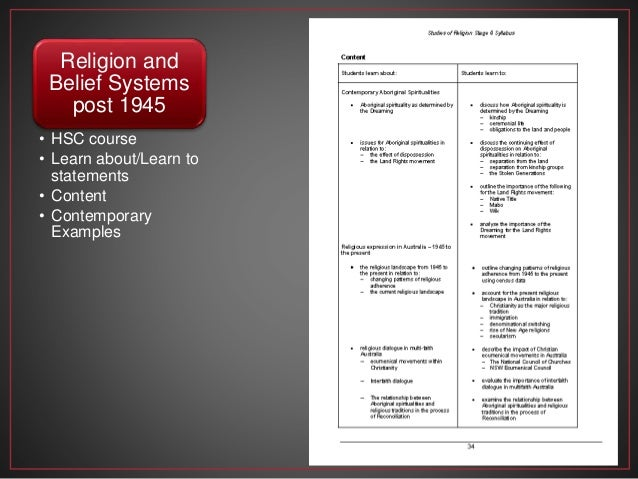 hsc religion Supporting a brand new format for 2008, this new hsc study guide is directly linked to the syllabus with every single dot point of the hsc studies of religion syllabus appearing in the margin of the book.
