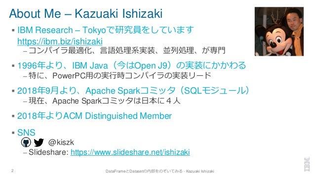 About Me – Kazuaki Ishizaki ▪ IBM Research – Tokyoで研究員をしています https://ibm.biz/ishizaki – コンパイラ最適化、言語処理系実装、並列処理、が専門 ▪ 1996年よ...