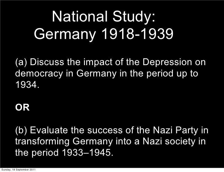 National Study: Germany 1918-1939