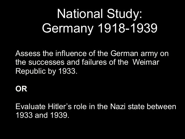 successes and failures of the weimar republic