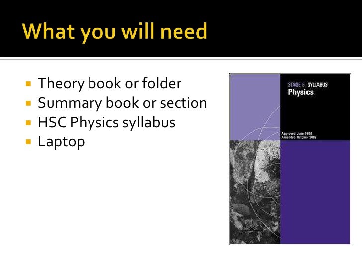 Hsc physics intro