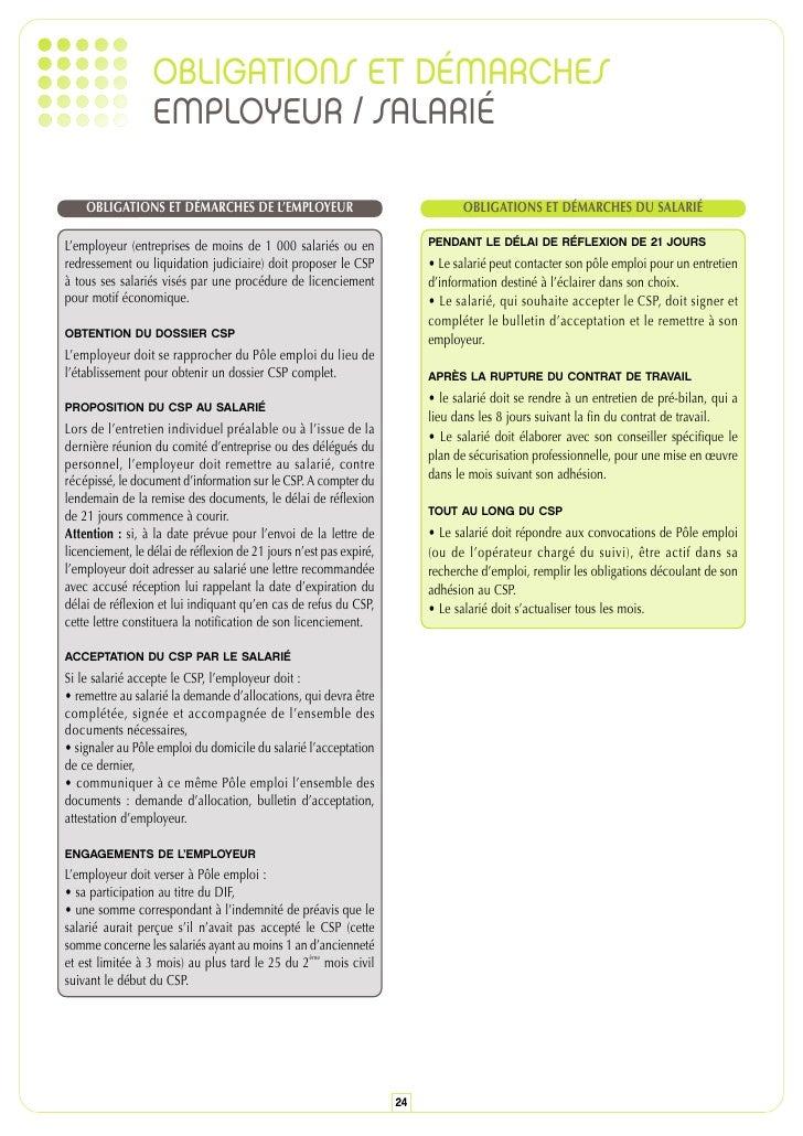 bulletin acceptation csp