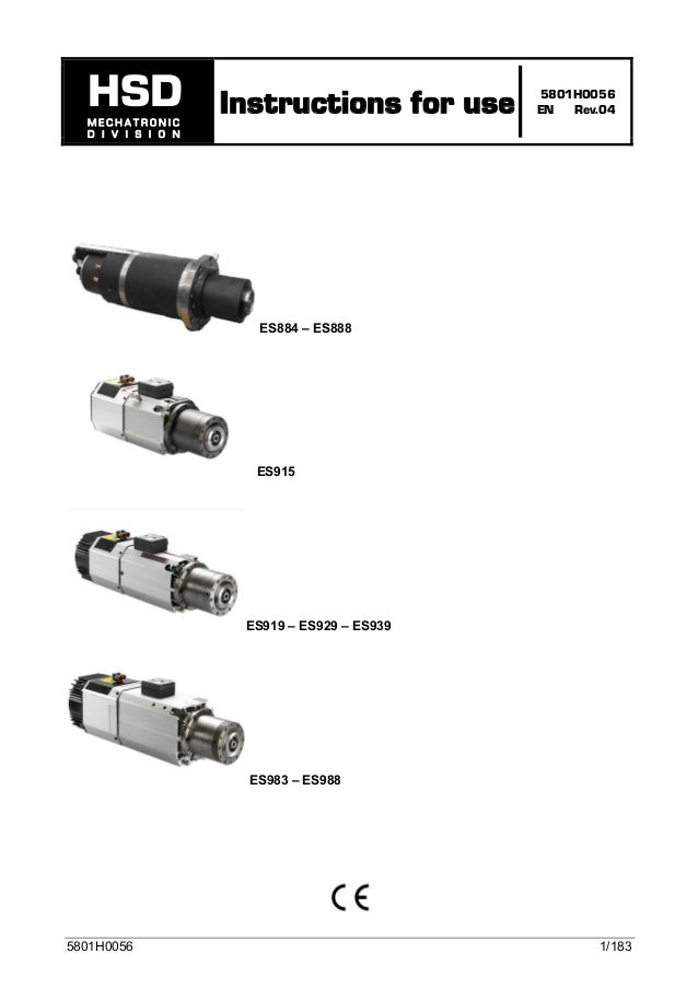Hsd spindle-manual es929-es919-es915-english