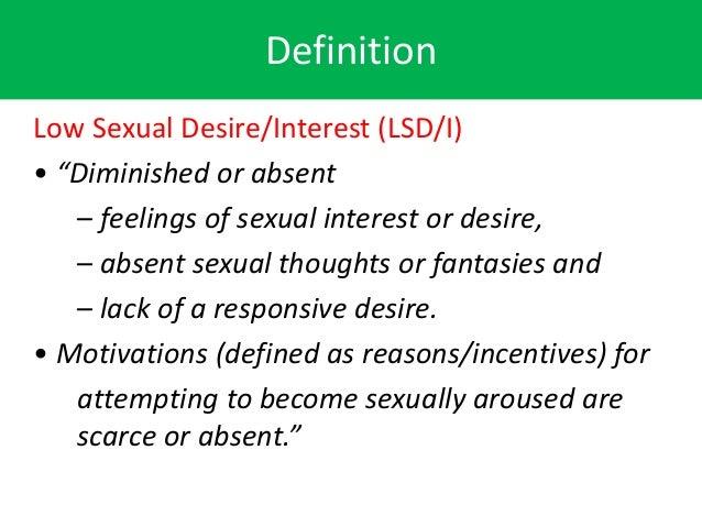 Hypoactive sexual desire disorder definition