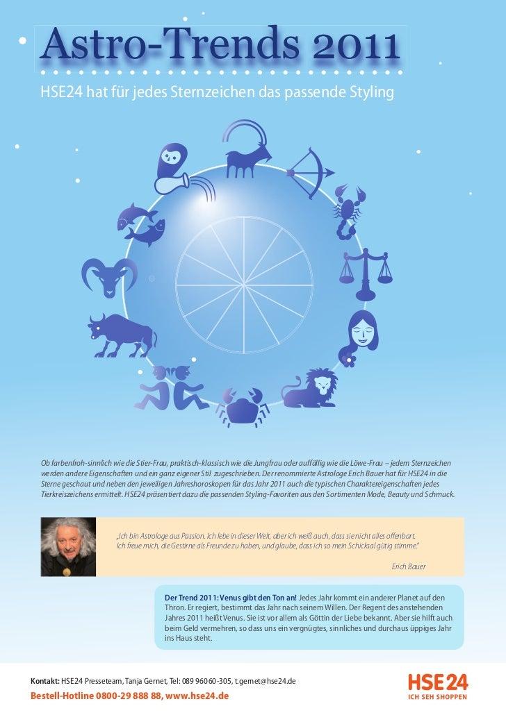 Astro-Trends 2011  HSE24 hat für jedes Sternzeichen das passende Styling  Ob farbenfroh-sinnlich wie die Stier-Frau, prakt...