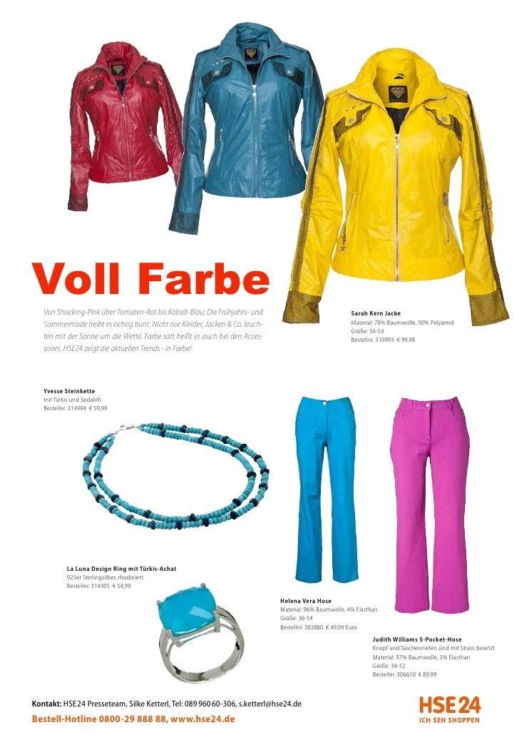 Voll Farbe   Von Shocking-Pink über Tomaten-Rot bis Kobalt-Blau: Die Frühjahrs- und                                Sarah K...