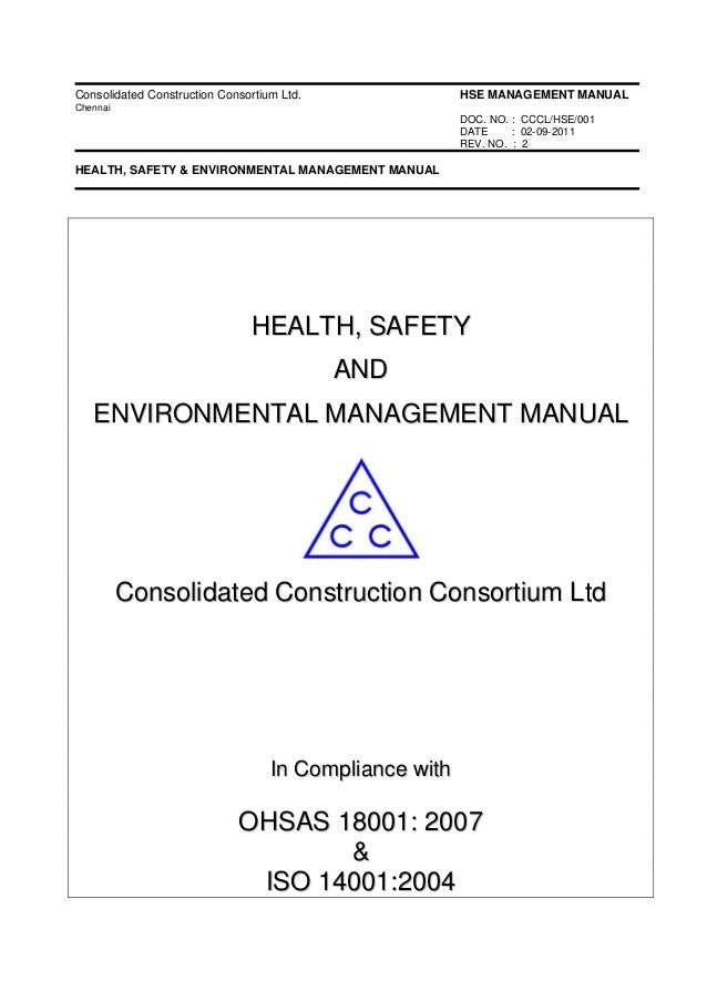 Safety manuals for construction doc
