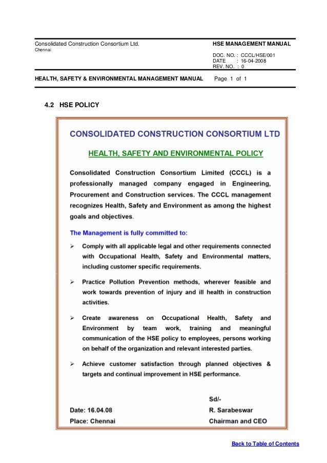 hse apex manual rh slideshare net Employee Health and Safety Manual Employee Safety Manual