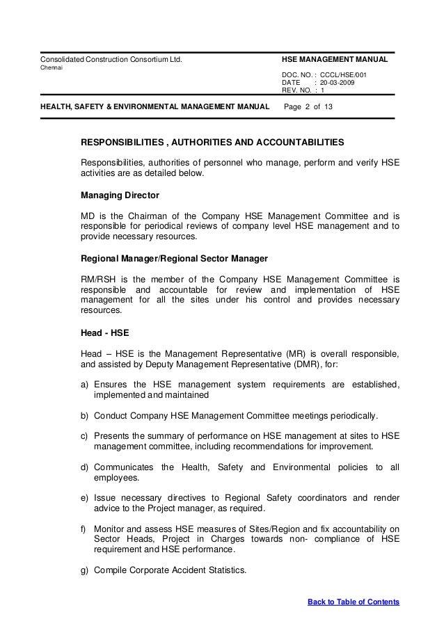 hse apex manual rh slideshare net Employee Safety Manual HSE Safety Manual