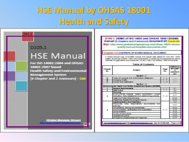 creating a health and safety manual