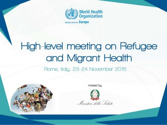 Public health aspects of migration: ensuring people-centred health systems Dr Hans Kluge Director, Division of Health Syst...