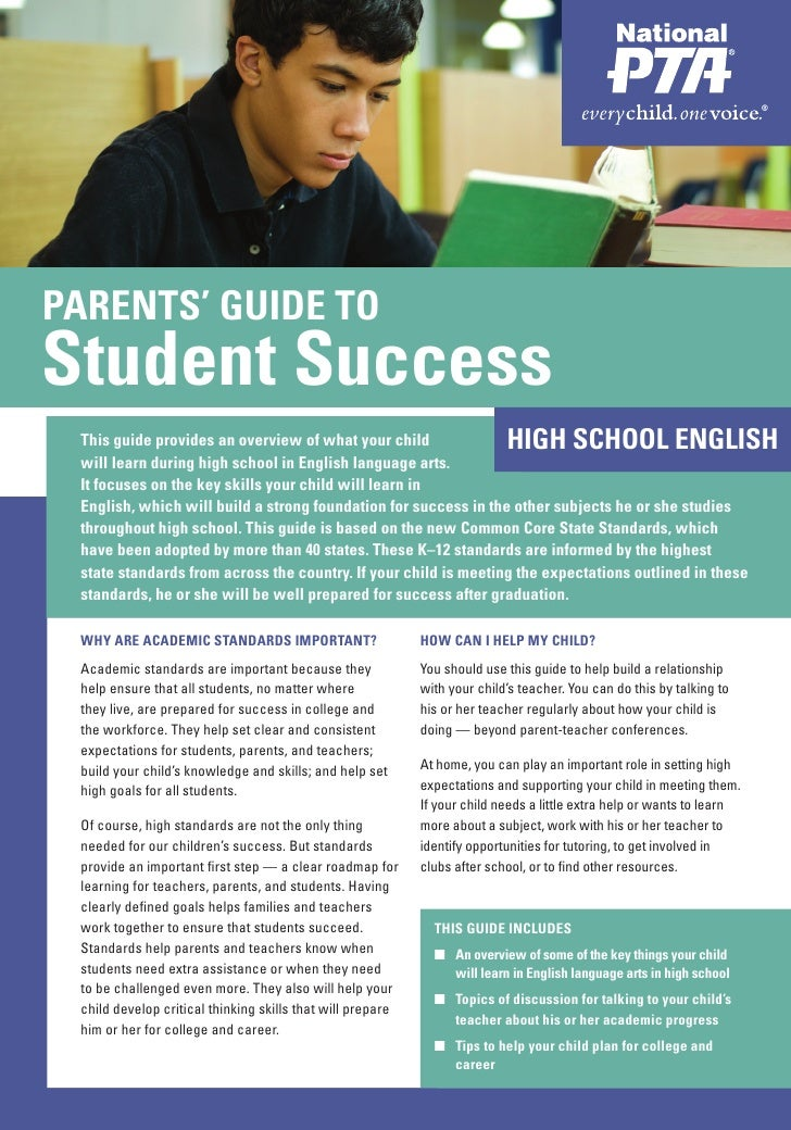 PARENTS' GUIDE TO PARENTS' GUIDE TOStudent SuccessStudent Success This guide provides an overview of what your child      ...