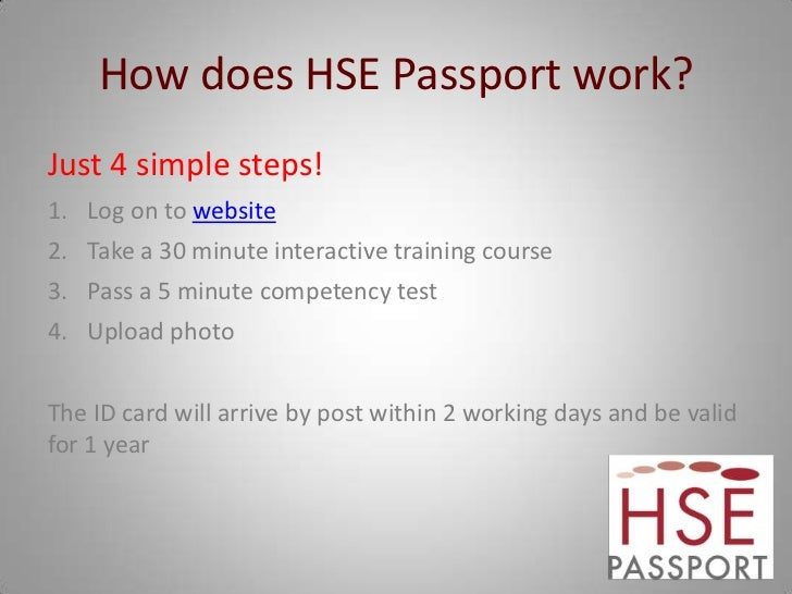 hse presentation health  u0026 safety passport scheme 2011