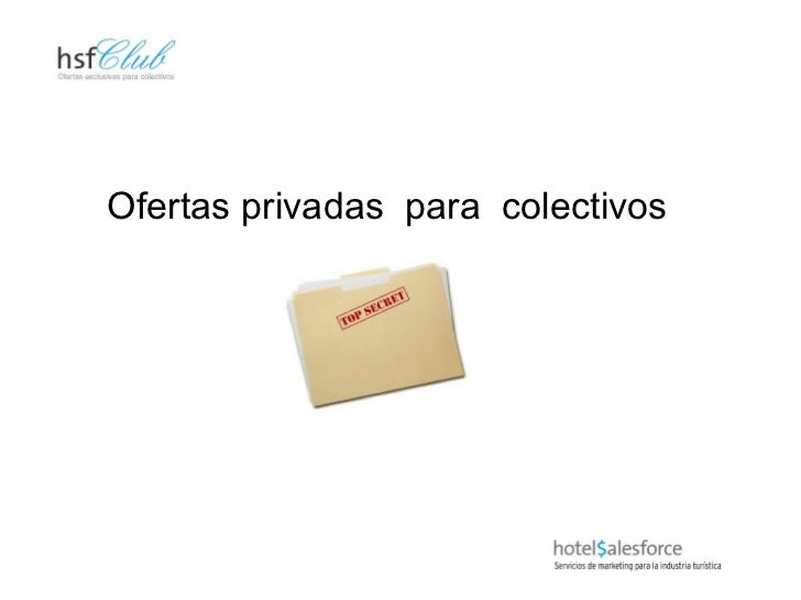 Ofertas privadas  para  colectivos