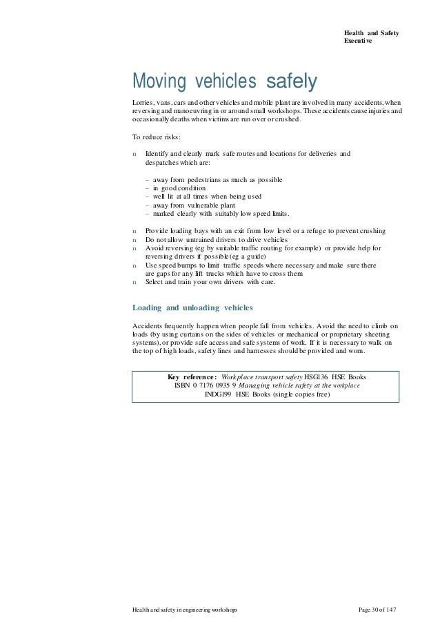health and safety in engineering workshops pdf
