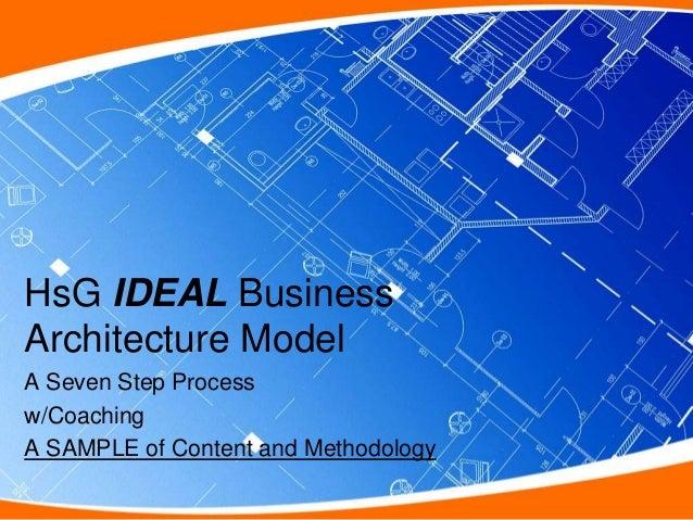 HsG IDEAL BusinessArchitecture ModelA Seven Step Processw/CoachingA SAMPLE of Content and Methodology