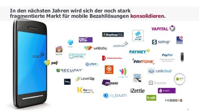 12 In den nächsten Jahren wird sich der noch stark fragmentierte Markt für mobile Bezahllösungen konsolidieren.