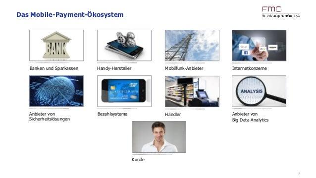 7 Das Mobile-Payment-Ökosystem Kunde Bezahlsysteme Anbieter von Big Data Analytics Anbieter von Sicherheitslösungen Banken...