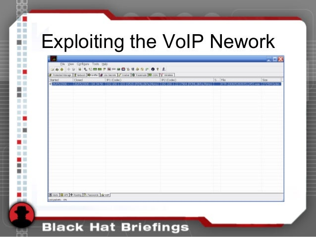 Exploiting the VoIP Nework