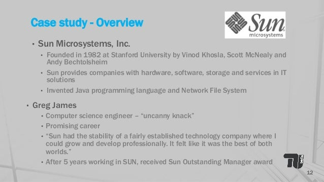 Greg james at sun microsystems inc