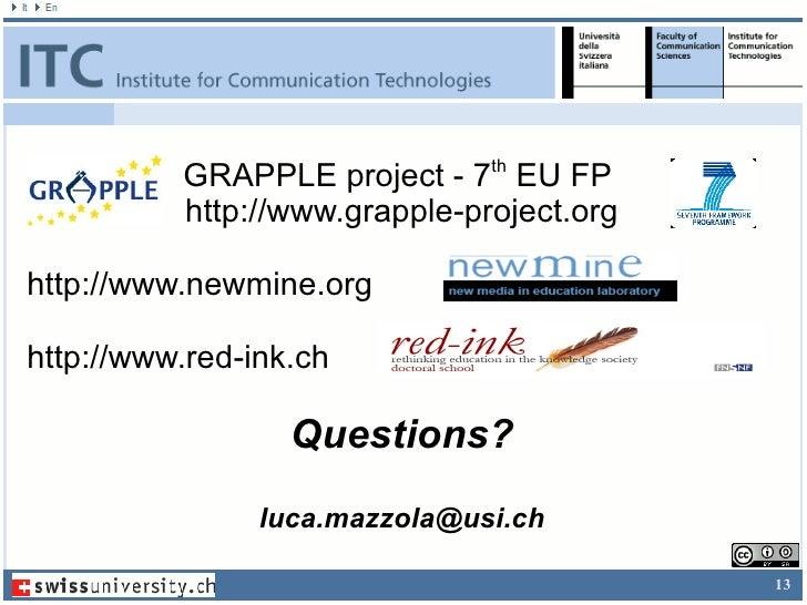 Participation of the user  </li></ul></ul><ul><li>Opening learner profile to self-inspection seems to help in  </li></ul><...