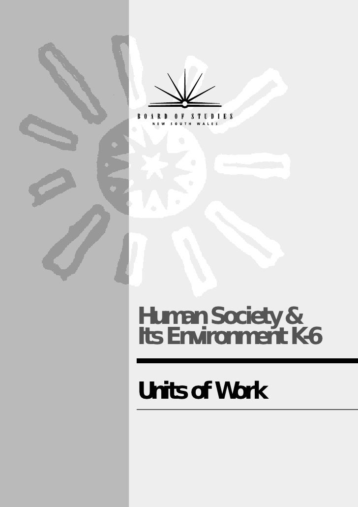 Hsie units of work early stage 1