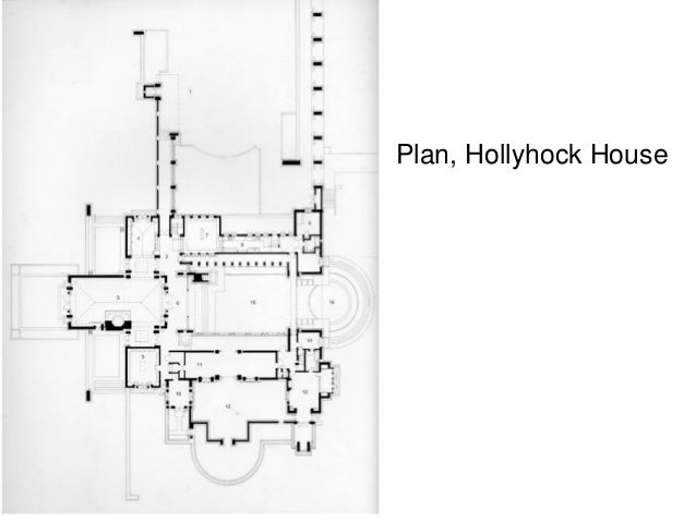 Hollyhock house floor plan - House plans