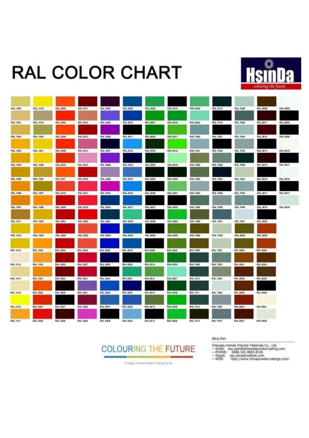 Hsinda powder coating color chart pdf