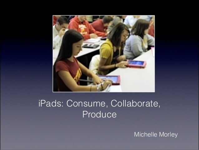 iPads: Consume, Collaborate,          Produce                     Michelle Morley