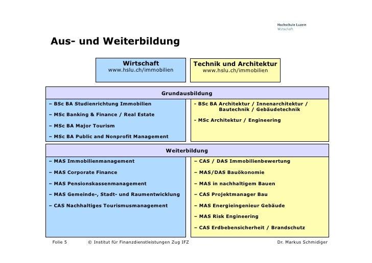 Innenarchitektur Weiterbildung cc estate management hochschule luzern