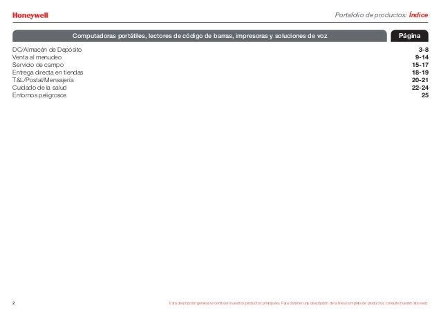 Honeywell Scanning & Mobility Guía de productos es-la