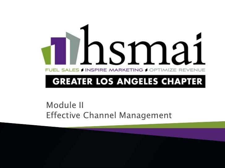 Module IIEffective Channel Management<br />