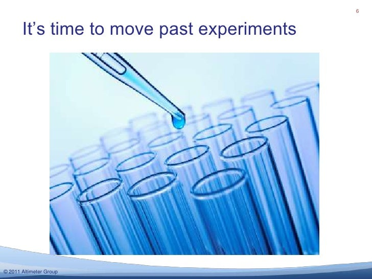 It's time to move past experiments<br />6<br />