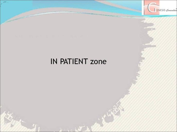 <ul><li>IN PATIENT zone </li></ul>