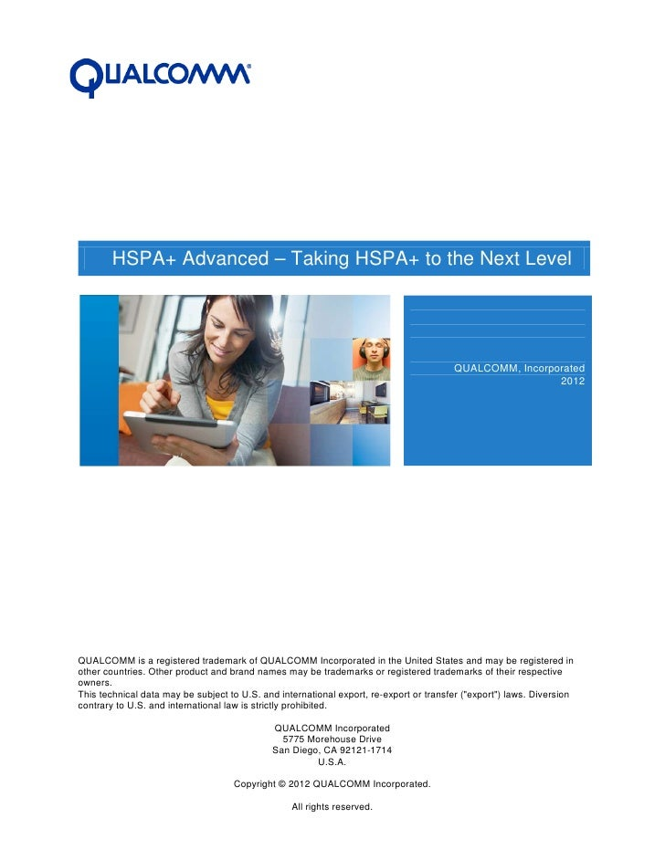 HSPA+ Advanced – Taking HSPA+ to the Next Level                                                                           ...